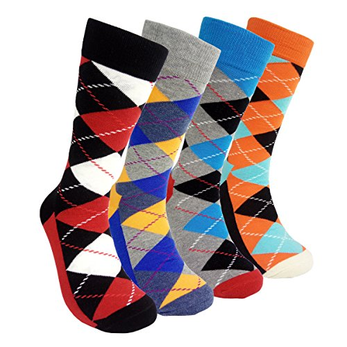 Mens Colorful Dress Socks Argyle