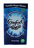 3 X 20 Comfort Intense Fresh Sky Tumble Dryer Sheets 60 in total