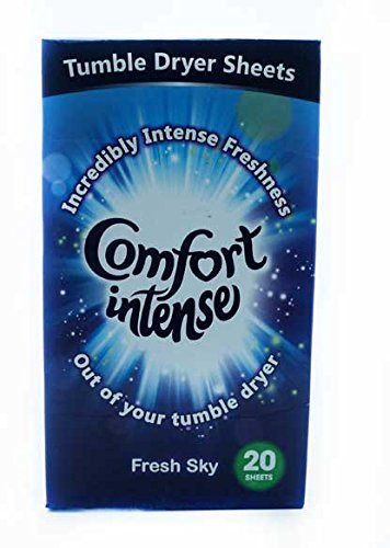 3 X 20 Comfort Intense Fresh Sky Tumble Dryer Sheets 60 in total Laundry Care