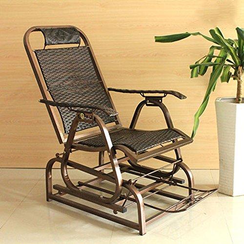 FEIFEI Fauteuils inclinables Chaise longue de balcon Chaise pliante Chaise de repos de déjeuner Chaise de famille Pliant
