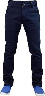 pantaloni elasticizzati da uomo Jack South vestibilit/à aderente pantaloni Chino a gamba dritta
