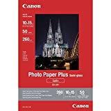Canon SG-201 - Papel fotográfico plus (semi brillante, 10 x 15 cm, 50 hojas, acabado satinado)