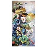 JHGJHK Arte de la Planta de Loto Pintura al óleo Mural Pintura sin Marco Decoración de la Sala de Estar Regalo para el hogar (Imagen 1)