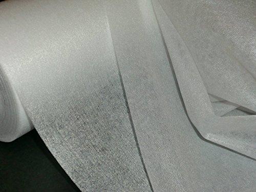 1 lfm. Bügelvlieseline in weiß, 45 g/m², 90 cm breit, doppelseitig aufbügelbar, für leichte bis mittelschwere Stoffe, doppelseitig haftend, Vlieseline, Bügelvlies