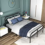ONEMO King Bed Frame with Headboard and Footboard,3000lbs Strengthen Support King Size Platform, 14 Inch Metal Mattress Foundation No Box Spring Needed, Non-Slip, No Noise