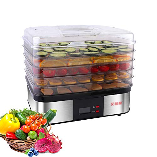 Buy CJSWT Premium Food Dehydrator Machine, 6 Trays/36 Hour Digital Adjustable Timer,Temperature Cont...