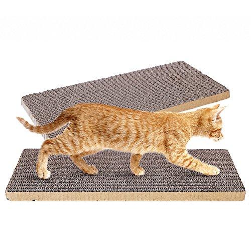 OMEM Tappeto tiragraffi per gatti, per giocare ovunque, fai da te per rendere il vostro animale domestico soddisfatto, può essere tagliato, confezione da 2 pezzi