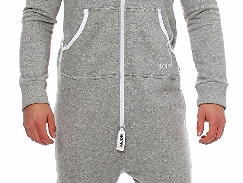 Gennadi Hoppe Herren Jumpsuit Onesie Jogger Einteiler Overall Jogging Anzug Trainingsanzug Slim Fit,hell grau - 5