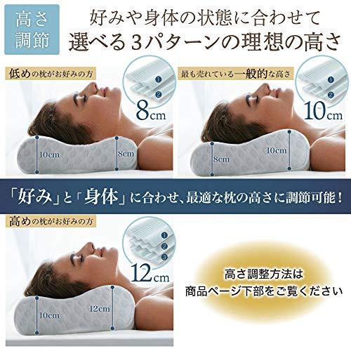 MyComfort(マイコンフォート)枕低反発3層ハイグレードモデル高さ調節可能ジャストフィット低反発枕