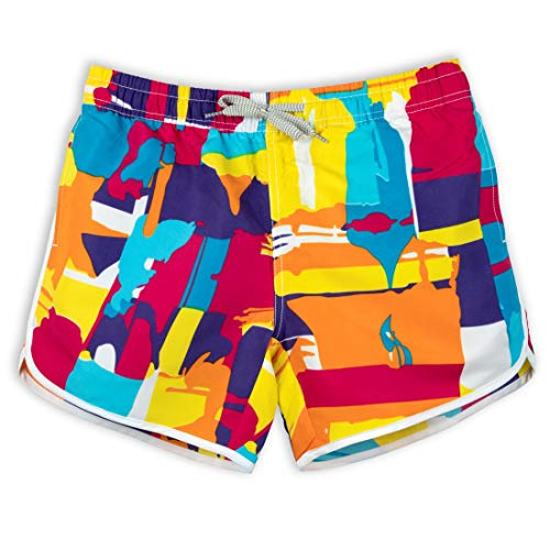 Damen Board-Shorts, schnelltrocknend, Stoff, schmal - Gelb - Large