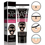 Blackhead Remover Mask [Removes Blackheads] - Purifying Quality Black Peel off Charcoal Mask - Best Mud Facial Mask 60 gram (2.11 ounce) Pack of 1 (Black)