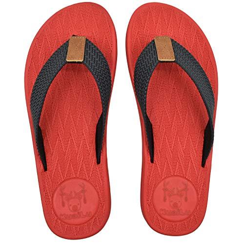 KuaiLu Teenslippers Heren Comfortabel Voetbed Flip Flops voor Mannen Zomer Vakantie Strand Modieuze Sandalen Breed Passen Zwembad Douche Antislip Schoenen