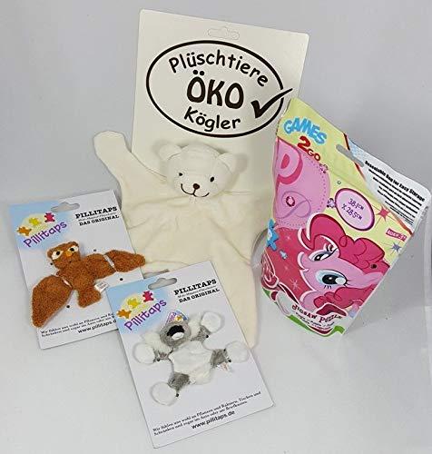CMTech GmbH Montagetechnik Jeu de Jouets pour bébé, Petite Poney, Puzzle, phillitaps doudous ludiques, lutins de Noël, Calendrier de l'Avent