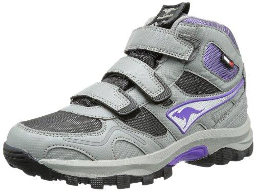 KangaROOS Elma Mid Velcro WP 1284A Unisex-Kinder Sneaker, Grau (dark grey/black/violet), EU 37