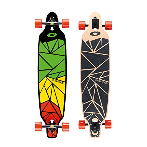 Osprey Erwachsene Longboard Shapes, Green/Yellow/Red, 99 x 23 cm