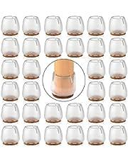 SIYIXIU 32 stuks stoelpoten stoelpoten kappen siliconen stoelpoten bescherming meubels tafelcovers en stoelen voeten beschermers