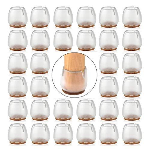 Siyixiu Lot de 32 embouts de protection en silicone pour pieds de chaise et de table