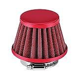 Filtros de Aire para Motos, Filtro de Aire 38 mm para Carburador (Rojo)