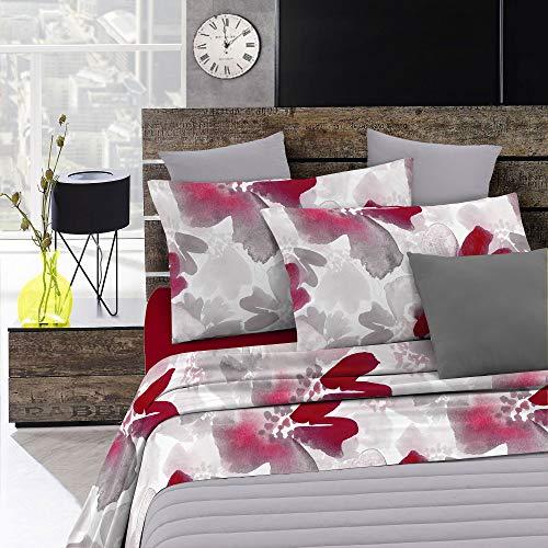Italian Bed Linen Fashion Completo Letto, Multicolore (Passion), Una Piazza e Mezza
