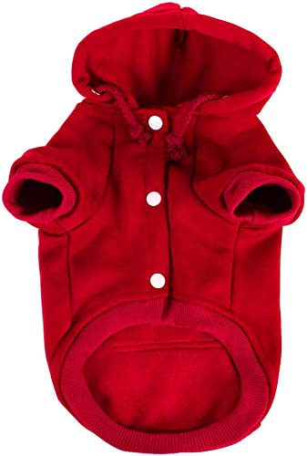 ZCHXD Haustier-Hooded Hooded Hooded Sweatshirt Polyester Basic Apparel Puppy Cat Winter Spring Fall Kostüm Outfits Fleece Warm Coat with Pocket