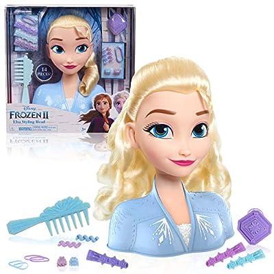 Disney Frozen 2 Elsa Styling Head, 14-Pieces
