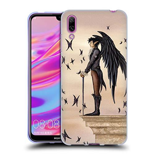 Officiële Amy Brown Rook Legendes Soft Gel Case Compatibel voor Huawei Enjoy 9 (2018)