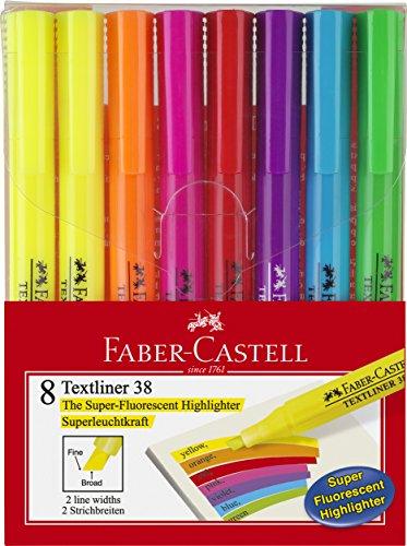 Faber-Castell–Evidenziatori Textliner 38 Estuche con 8 textliner
