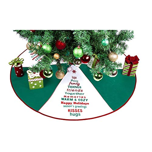 Imperial Home Christmas Tree Skirt 36' - Green With Greetings