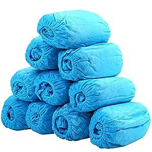 MARSPOWER Copriscarpe 100PCS / Set Copriscarpe igienico monouso per la Protezione del Pavimento in Moquette per Interni sul Posto di Lavoro di edilizia Domestica – Blu