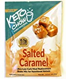 Keto Chow | Keto Meal Replacement Shake | Nutritionally Complete | Low Carb | Delicious Easy Meal Substitute | You Choose The Fat | Salted Caramel | Single Meal Sample