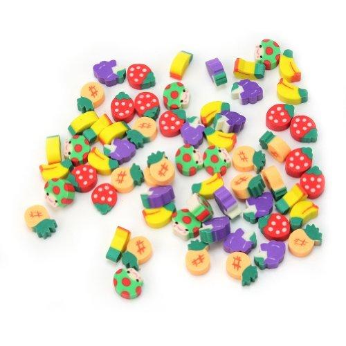 Pinzhi–50gomme per cancellare a forma di frutta, accessorio per bambini, scuola