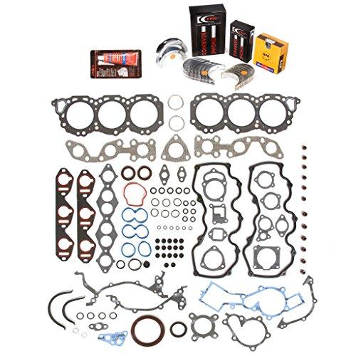 Evergreen Engine Rering Kit FSBRR3021 Compatible With 96-04 Infiniti Nissan VG33E Full Gasket Set, 0.25mm / 0.010' Oversize Main Rod Bearings, 0.50mm / 0.020' Oversize Piston Rings