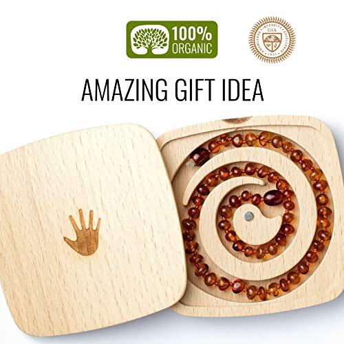 Collar de ámbar con cuentas bálticas 100% naturales, joyería orgánica y hecha a mano
