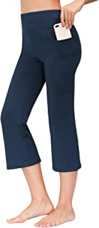 Zexxxy Women's Yoga Capri Pants Tummy Control Cropped Length Pant with Pockets