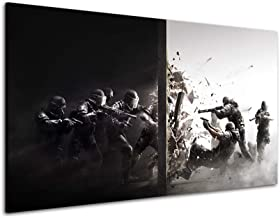 RINWUNS Wall Art Rainbow Six Siege Poster Game Canvas Print Wall Painting Giclee Artwork Picture Modern Home Decor For Liv...