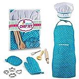 Fantiff Kinder-Kostüm, lustig, für die Küche, zum Spielen und Kochen, Spielen, Spielzeug, Spielcenter blau