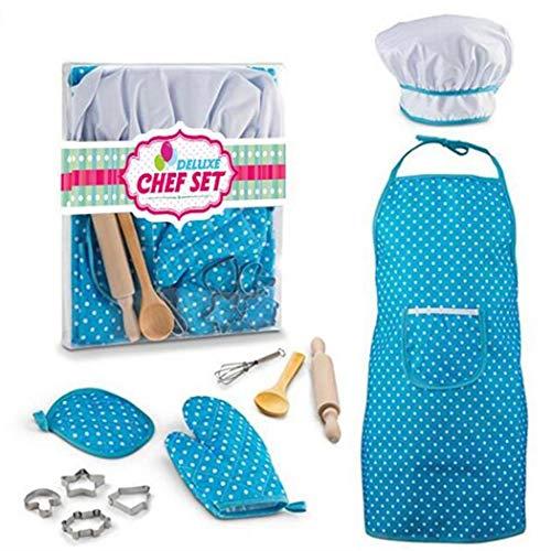 Fantiff - Juego de disfraz de cocina para niños, juego de juguete...