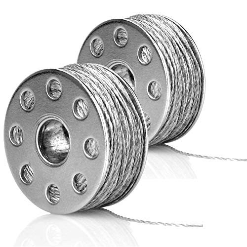 BOOOLE Conductive Sewing Thread 316L Stainless Steel 72ft/22m 54Ω/m for Arduino Lilypad with Needle Threader 2 Bobbins Smooth Sewable