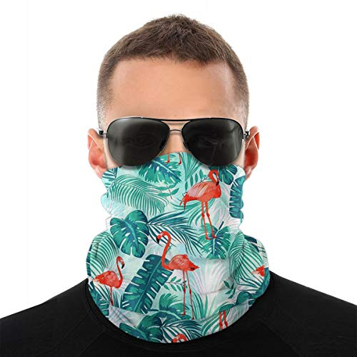 Unisex Seamless Face Mask Bandana Flamingo Neck Gaiter for Dust, Outdoors, Festivals, Sports
