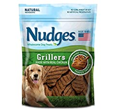 USA chicken is the #1 ingredient All natural ingredients No artificial flavors. No artificial preservatives. No animal by-products. Made in the USA Easy to tear into bite-sized pieces