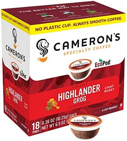Cameron s Coffee Single Serve Pods Flavored Highlander Grog 18 Count Pack of 1 product image