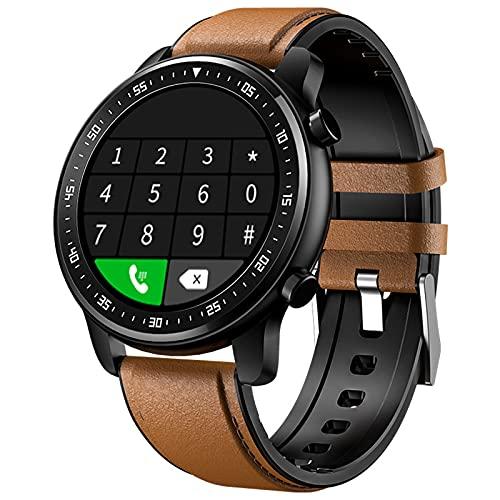 YDK MT1 Reloj Inteligente para Hombres y Mujeres, Ritmo cardíaco Monitor de sueño Muñeca Moda Impermeable Modo Deportivo Control de música Bluetooth Llamada SmartWatch,A