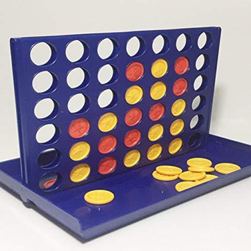 Lorenlli 3D 4 Juegos Ajedrez Educación temprana Interacción Padre-Hijo 1 Set Connect 4 In A Line Board Classic Game