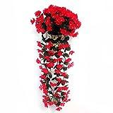 Warooma Künstliche Efeu-Blumen, zum Aufhängen, Glyzinie, Hängegirlande, 2 Stück