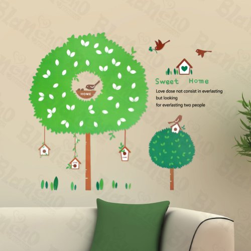 The House Of Bird - Large Wall Decals Stickers Appliques Home Decor