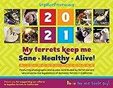 LegalizeFerrets.org Kalender 2021, 12 Monate, 8,5 x 11 cm, Feier unserer Frettchenbegleiter