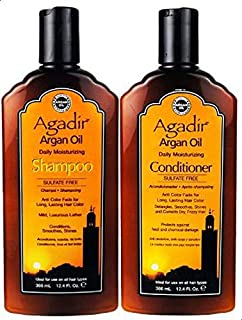 Agadir Argan Oil Daily Shampoo Conditioner Combo Set 12.4oz/366ml