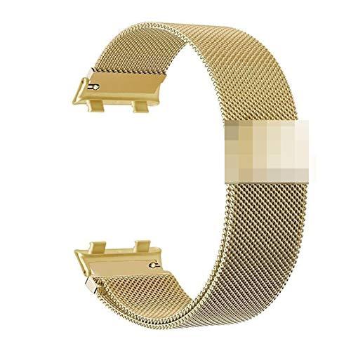 YGGFA Pulsera de metal con cierre magnético de acero inoxidable para reloj OPPO de 46 mm, correa milanesa para reloj OPPO de 41 mm (color de la correa: oro, ancho de la correa: 41 mm)