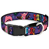 Buckle Down Bing Bong Poses/Candy Purples/Multicolor Disney Martingale Plastic Clip Collar, Large
