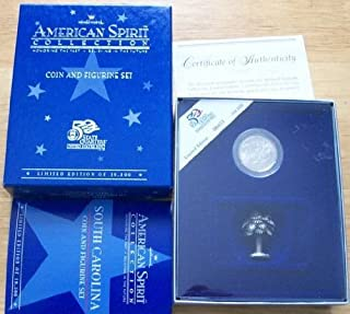 Hallmark American Spirit Collection 2000 South Carolina Quarter & Figurine Set